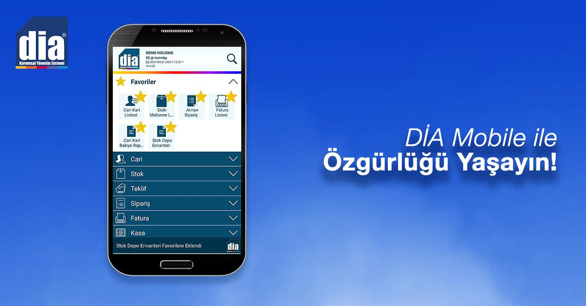 DİA Mobile ile özgürlüğü yaşayın
