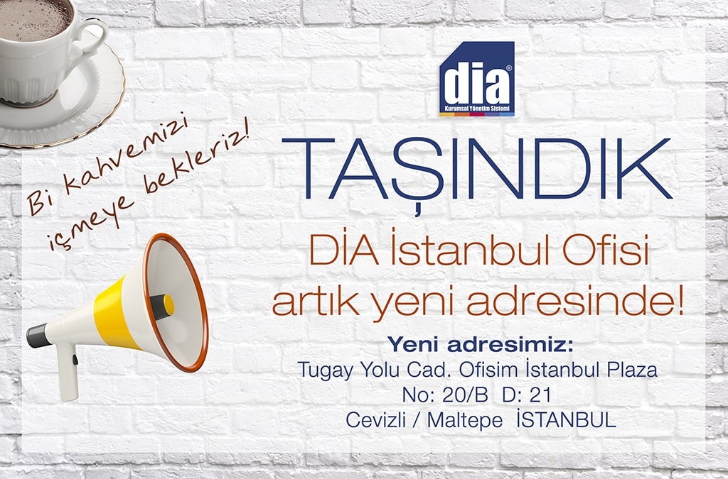 DİA İstanbul Ofisi Yeni Adresinde